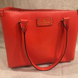 KATE SPADE QUINN WELLESLEY LEATHER SATCHEL/HANDBAG